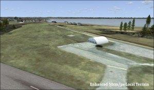Airport with 50cm/pixel terrain overlay